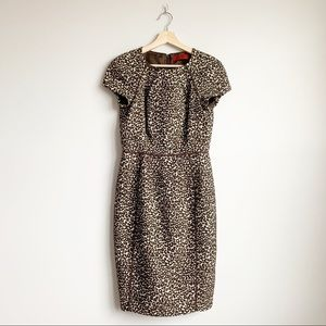 Carolina Herrera Leopard Midi Knee Dress M 6